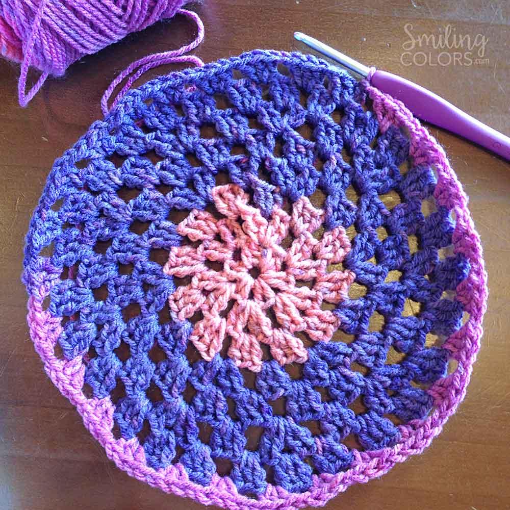 crochet beanie in round