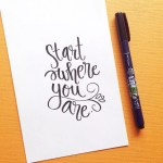 52 happy inspirational quotes for you to hand letter