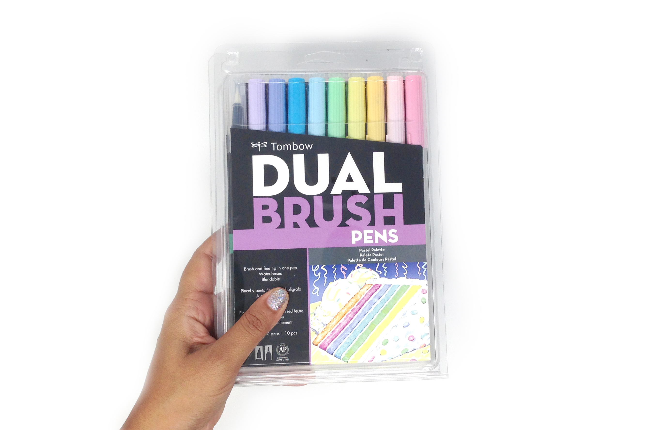 Using The Tombow Dual Brush Pastel Set For Lettering And Art