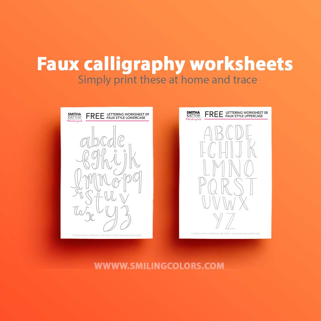 picture regarding Free Calligraphy Worksheets Printable identified as Lettering worksheets: 9 Free of charge printable prepare sheets towards hint