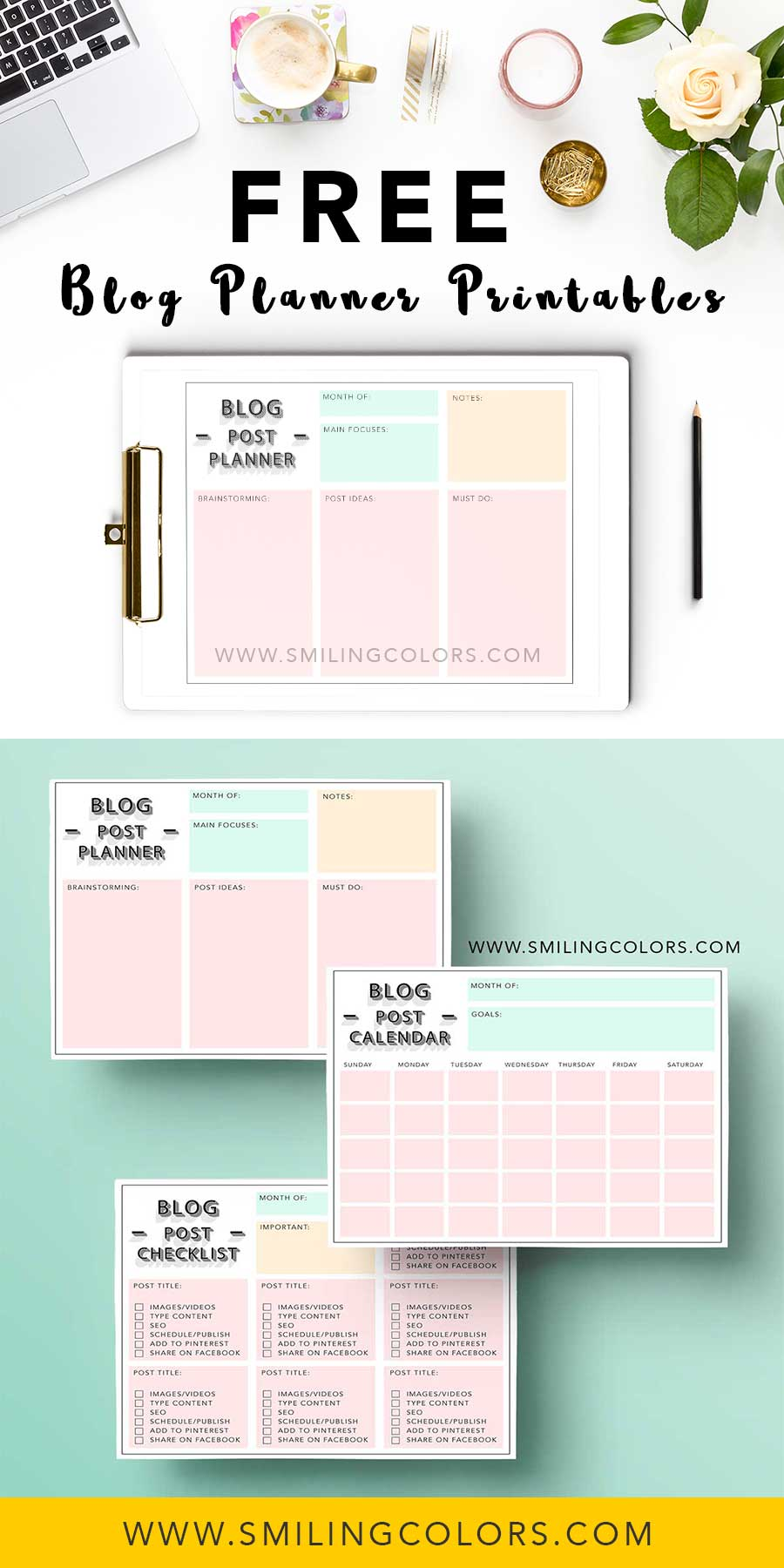 image regarding Blog Planner Printable titled Absolutely free web site planner printables in direction of support yourself receive well prepared