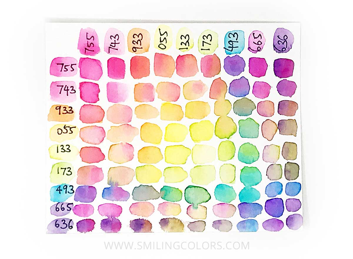 Tombow Color Chart For Watercoloring 3 Ways To Create One