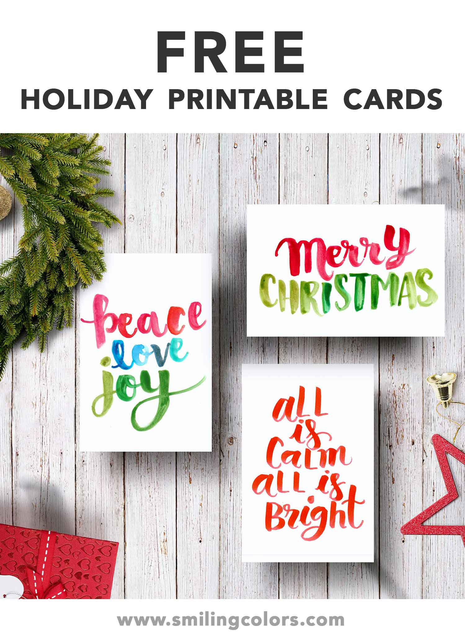 - FREE Printable Holiday Cards That You Can Download And Print NOW