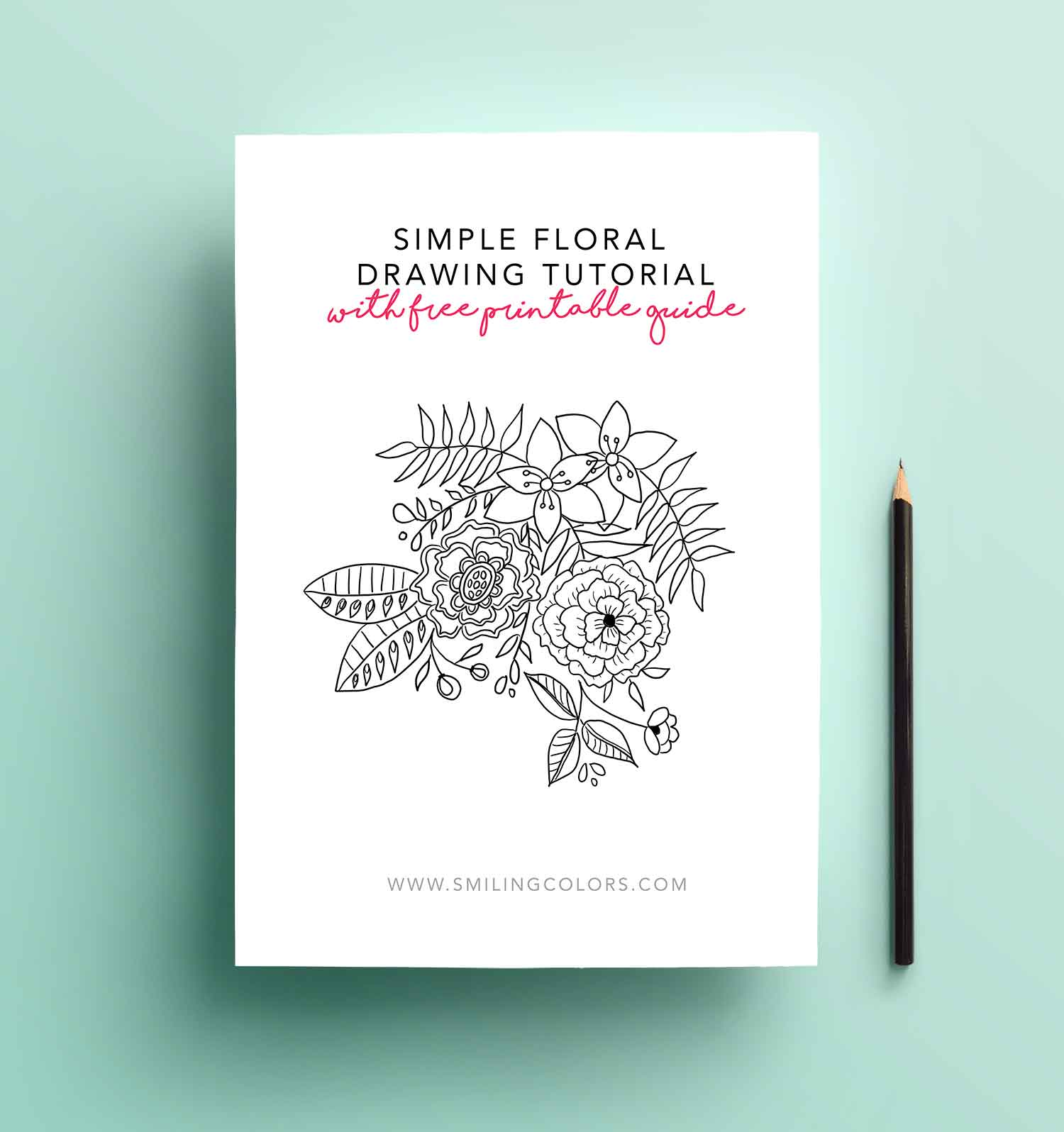 So im hoping this simple floral drawings tutorial will make you pull out your pen and paper and start doodling right away