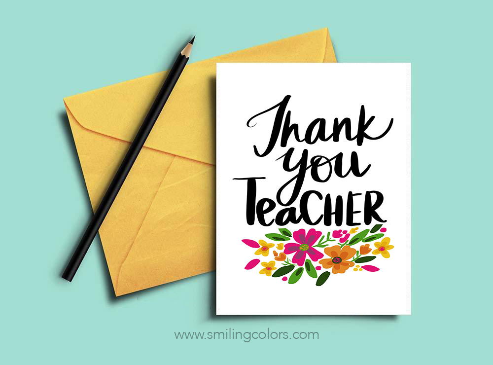 graphic relating to Thank You Cards for Teachers Printable referred to as Thank on your own trainer: A fastened of Free of charge printable observe playing cards