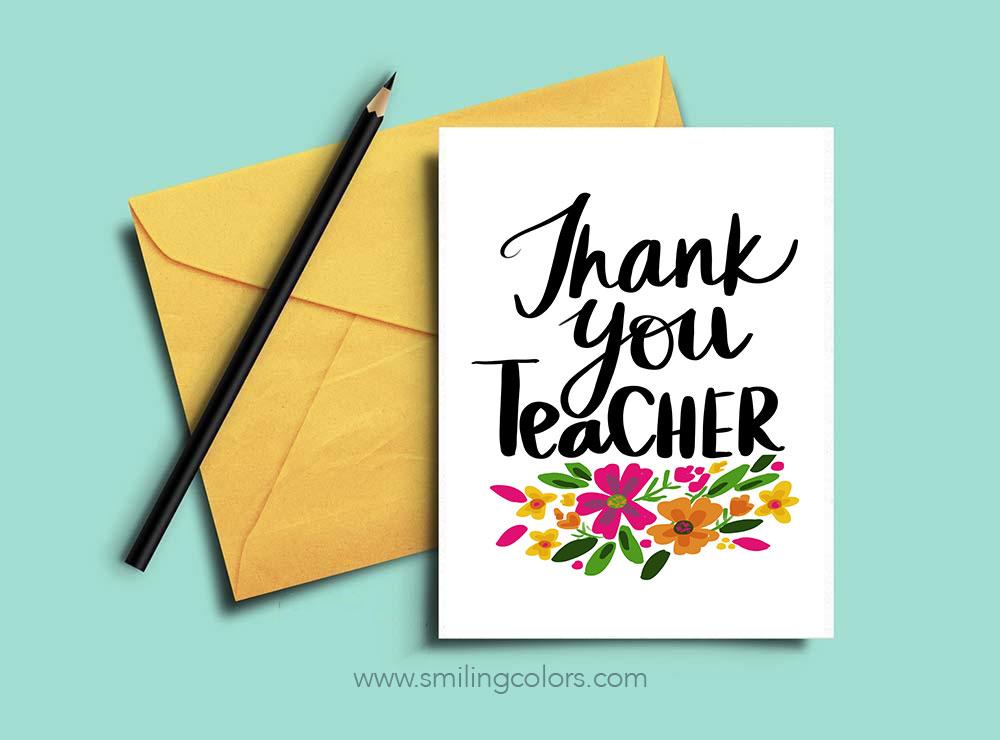 f4412e836d5fe Thank you teacher: A set of FREE printable note cards - Smitha Katti
