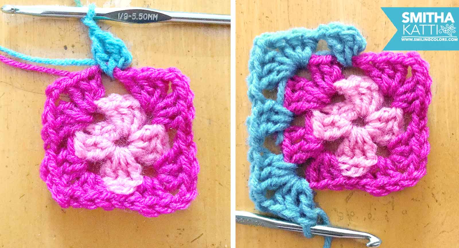 photo regarding Free Printable Crochet Granny Square Patterns identify Uncomplicated granny sq. practice with action through move visuals