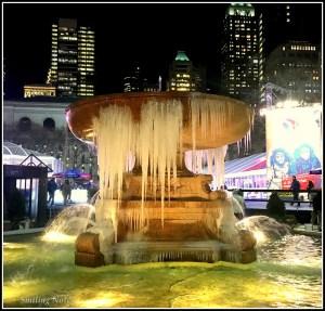 bryant park frozen founain