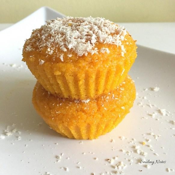 eggless mango semolina muffins