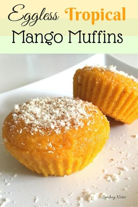 Eggless Semolina Mango Muffins