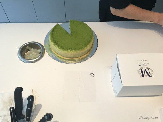 green tea mille crepes cake, lady M
