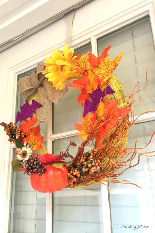 DIY Halloween Wreath under $10