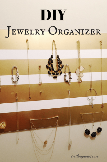 This DIY Hanging Jewelry Organizer made with foam board will help you stay more organized and you won't end up with tangled jewelry ever again!