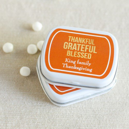 Personalized Holiday Mint tins