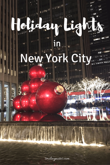 Holiday Lights in New York City