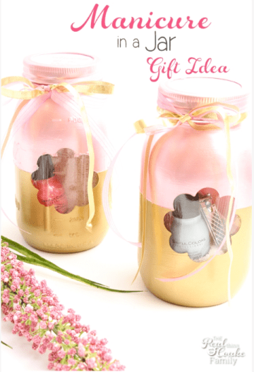 mani pedi in a jar - mother's day gift idea