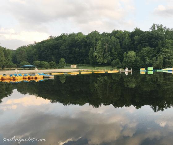 summer picnic at sunset lake