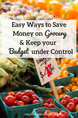 Easy Ways to Save Money on Groceries and Keep your Budget under Control - Trying to keep your Grocery budget under control can be a real struggle. But there are ways that you can shop for good quality products and still stay under control. And no - I'm not talking about extreme couponing. In fact, this post is not about coupons but rather how to shop wisely and getting more bang for your buck.
