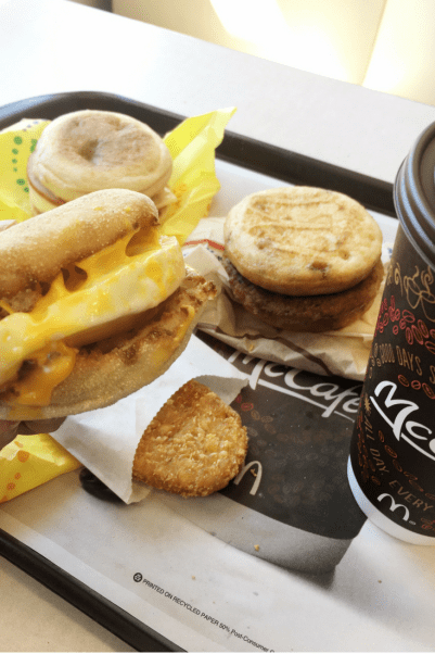 McDonald's All-Day Breakfast - McMuffin sandwich meal