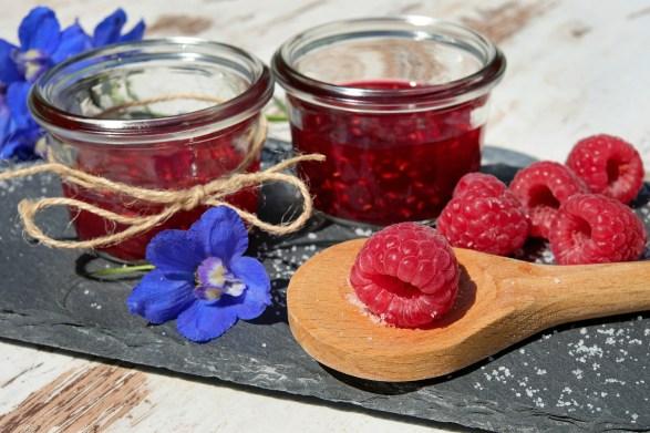 fresh jam in summer