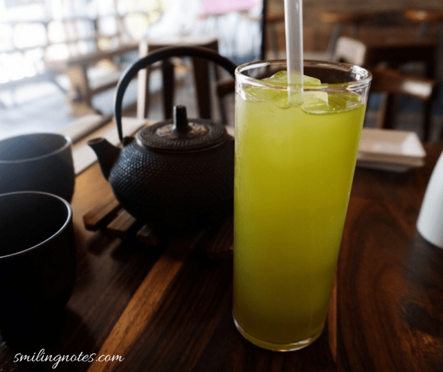 Green Tea and Jasmine Tea and Amami Coctkail Bar in New York