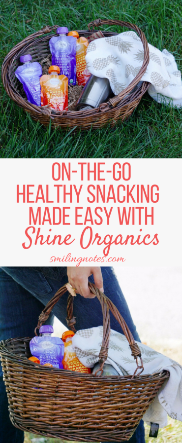 Healthy Snacking made Easy - Taking a Superfood snack break just got easier with these convenient pouches from Shine Organics that have real fruits, veggies and Superfoods like chia seeds and turmeric blended in them. #LiveVibrantly #ad