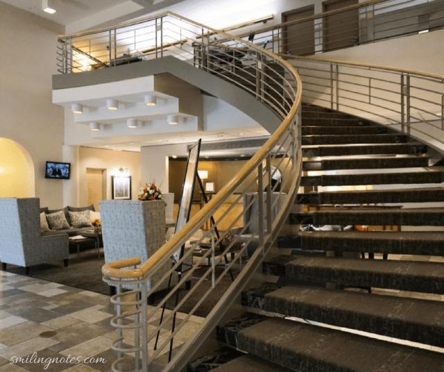 The hotel Ithaca lobby