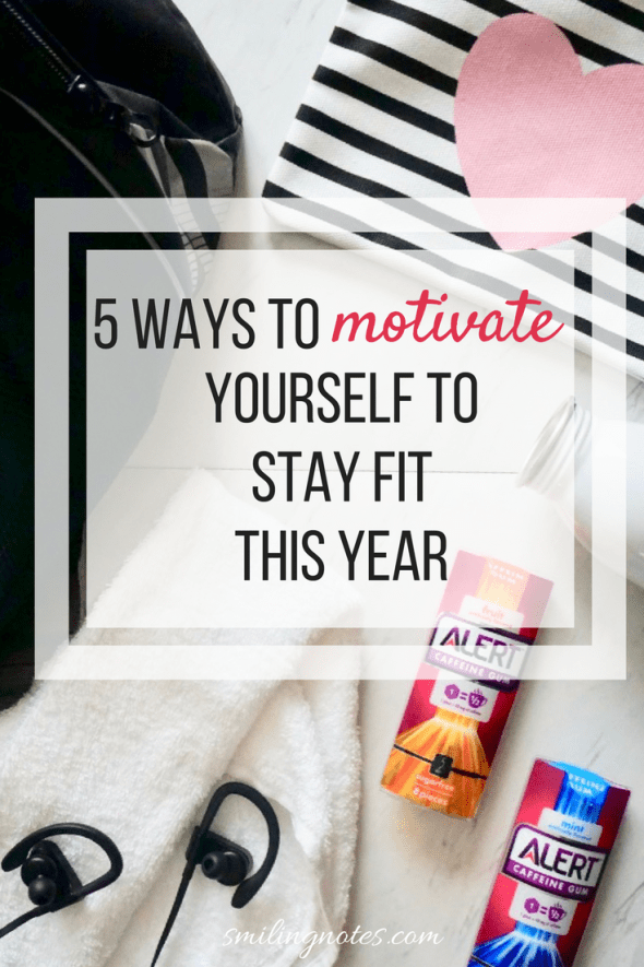 5 Ways to Motivate Yourself to Stay Fit this Year - During winter, when all you want to do is hibernate and stay indoors, do you often struggle to work towards your fitness goals as the new year rolls out? Here are a few easy ways to stay motivated and work towards and active lifestyle this coming year. #ad #AlertGum