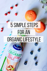 steps for an organic lifestyle