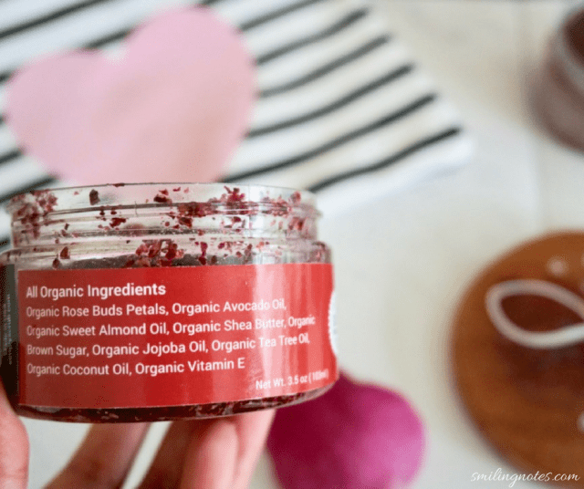 simply scrub organic homemade rose scrub