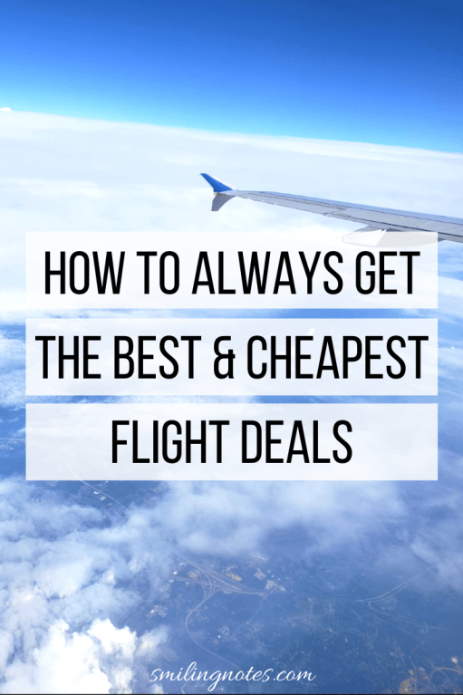 How to Always get the Best & Cheapest Flight Deals - Whether you are a frequent traveler or just love to go on an occasional trip with your family, check out these hacks to save some serious money on your air travel.