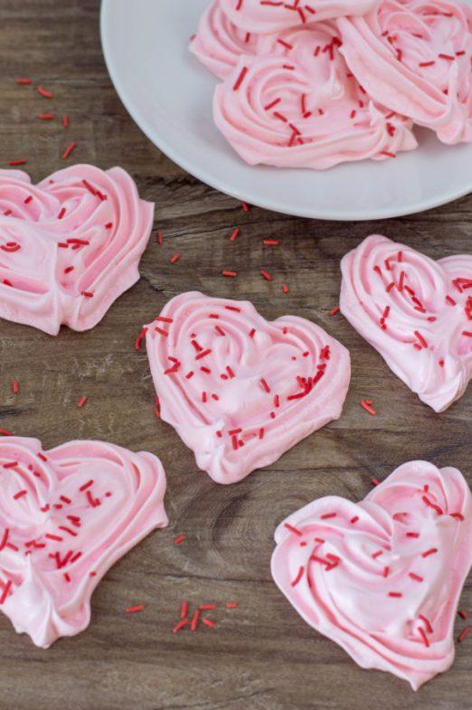 meringue heart cookies