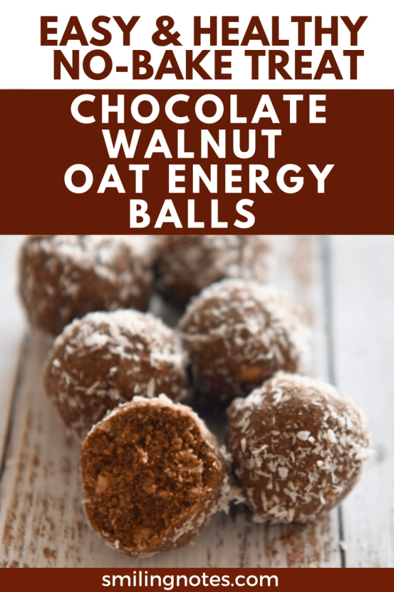 These easy Chocolate Walnut Oat Energy Balls are made with just a handful of ingredients and can be whipped up in no time.