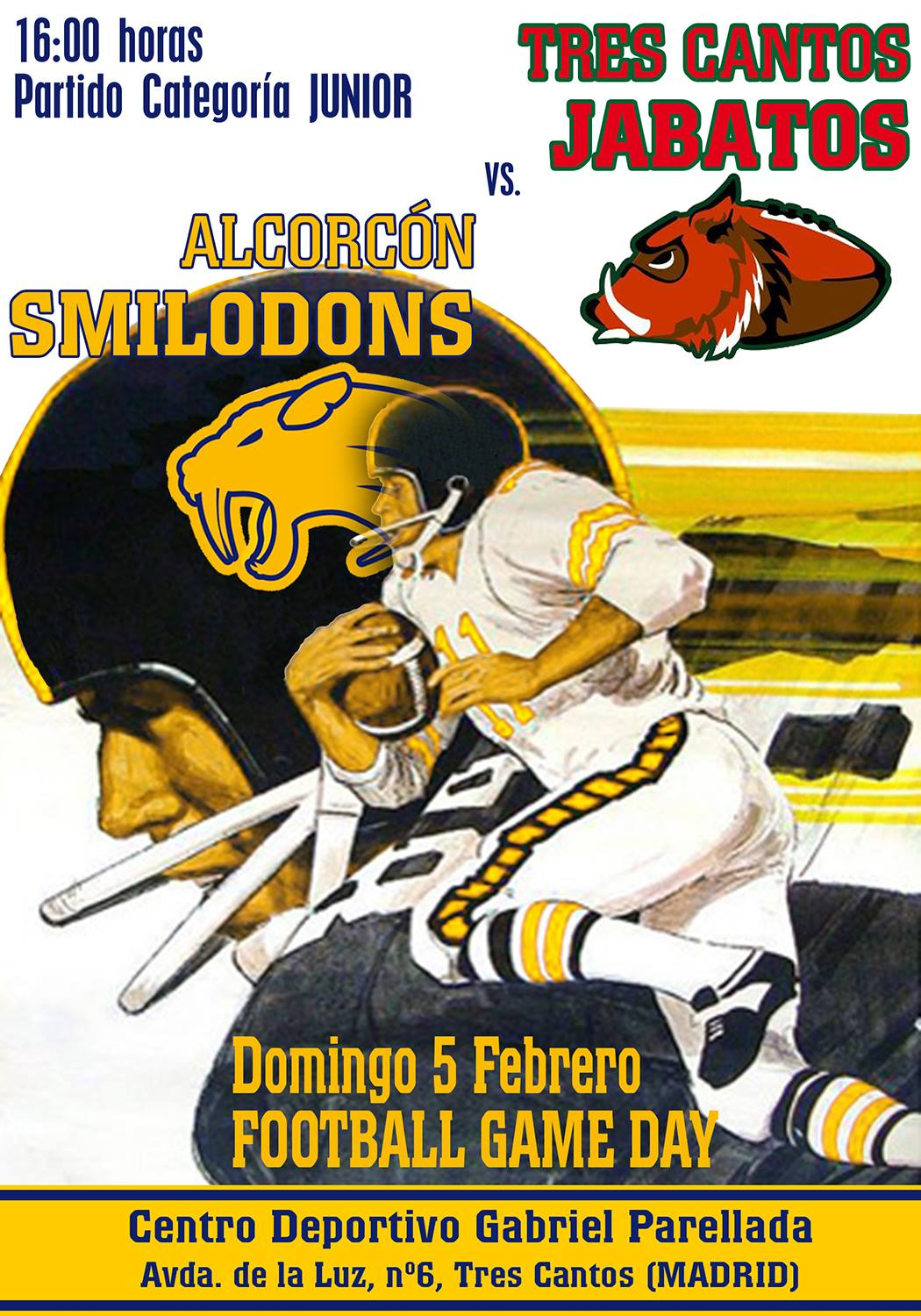 Jabatos Tres Cantos Jr. vs Alcorcón Smilodons Jr.