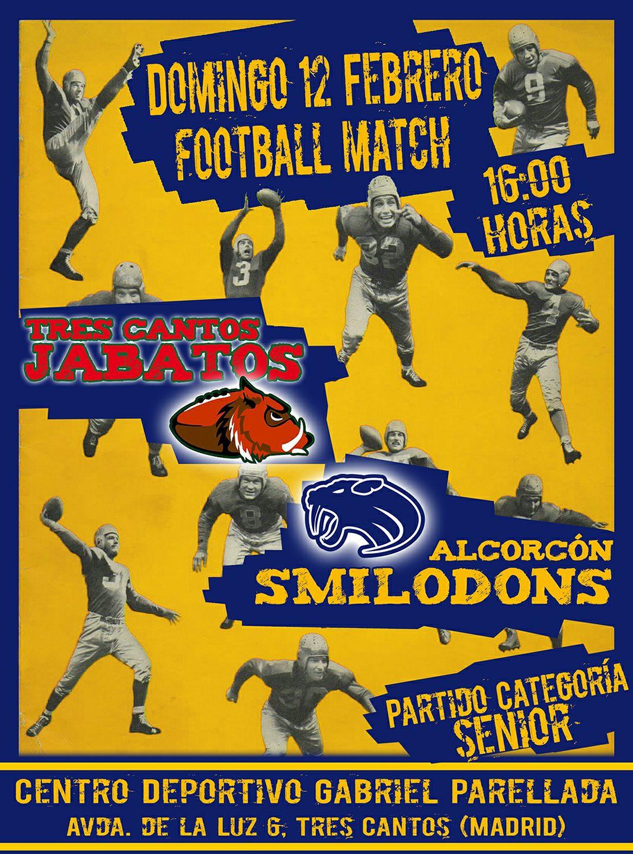 Tres Cantos Jabatos vs Alcorcón Smilodons – LMFA