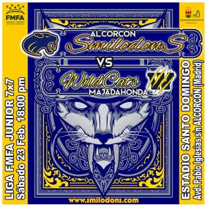 [LMFA Junior 7] Alcorcón Smilodons vs Majadahonda Wildcats