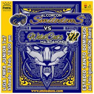 [LMFA Junior 7] Alcorcón Smilodons vs Majadahonda Wildcats