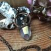 Electroformet engel aura krystalhalskæde 2