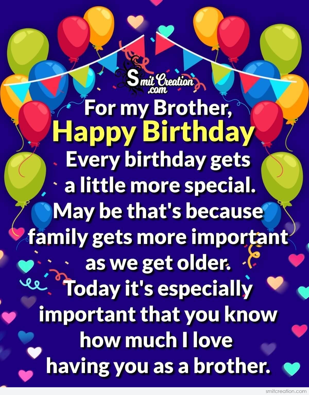 Happy Birthday Wishes For My Brother Smitcreation Com