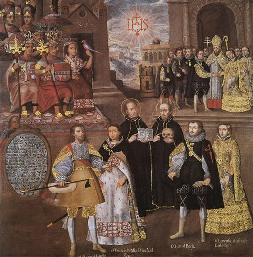 Union of the Inka royal family with the houses of Loyola and Borgia, 18th c. Museo Pedro de Osma, Lima, Peru.