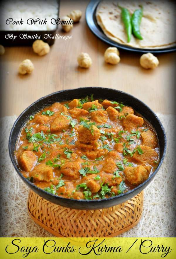Soya chunks curry meal maker kurmasoya chunks gravy meal maker kurma forumfinder Choice Image