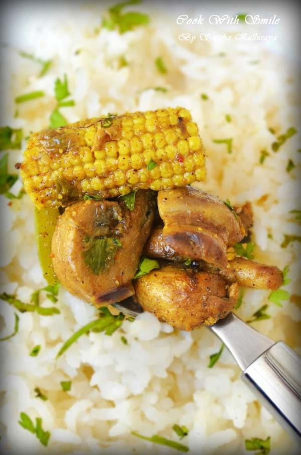 MUSHROOM BABYCORN PEPPER MASALA recipe