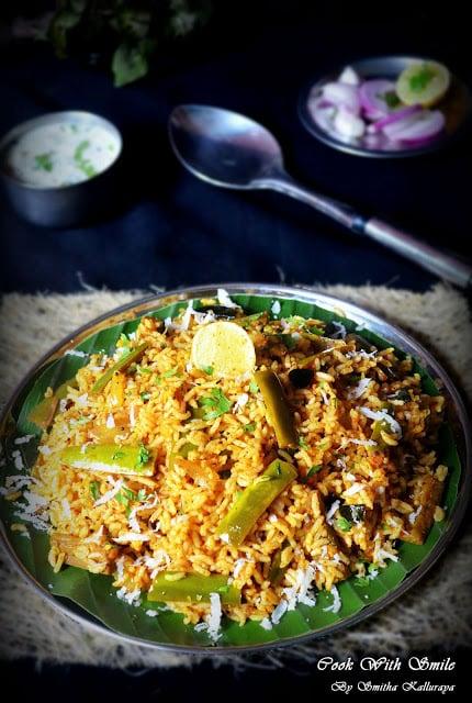 vangi bath using brinjal rice