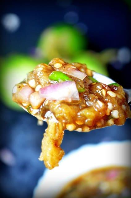 easy recipe for brinjal gojju