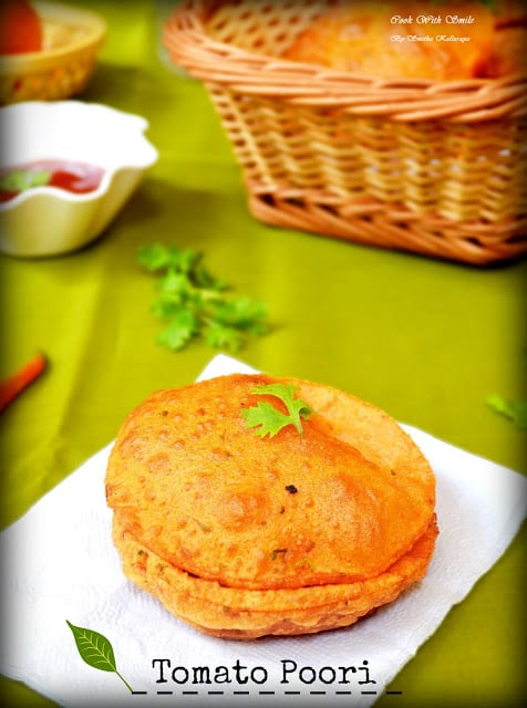 easy recipe for tomato poori
