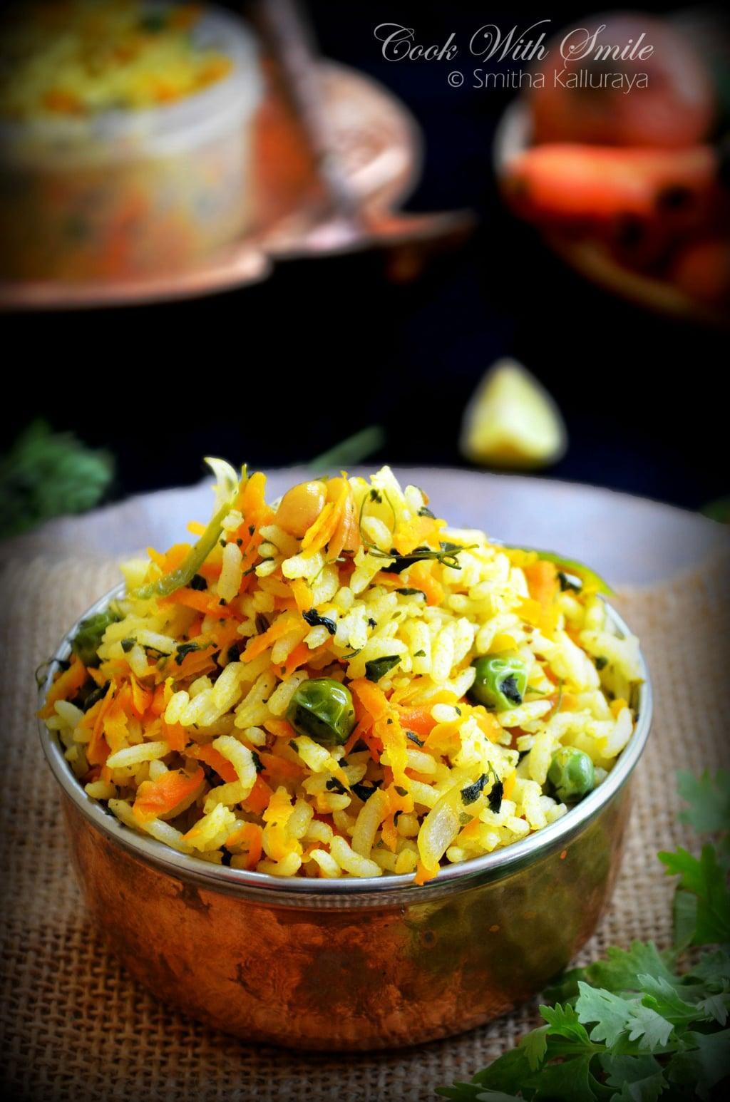 Carrot methi rice