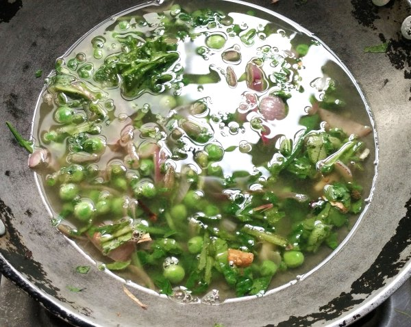 How to do palak soup,easy recipe for palak soup