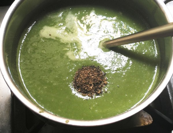 make palak soup