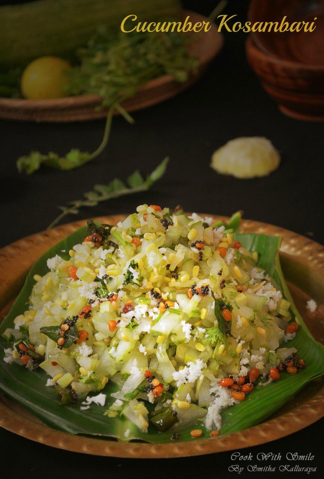 cucumber kosambari