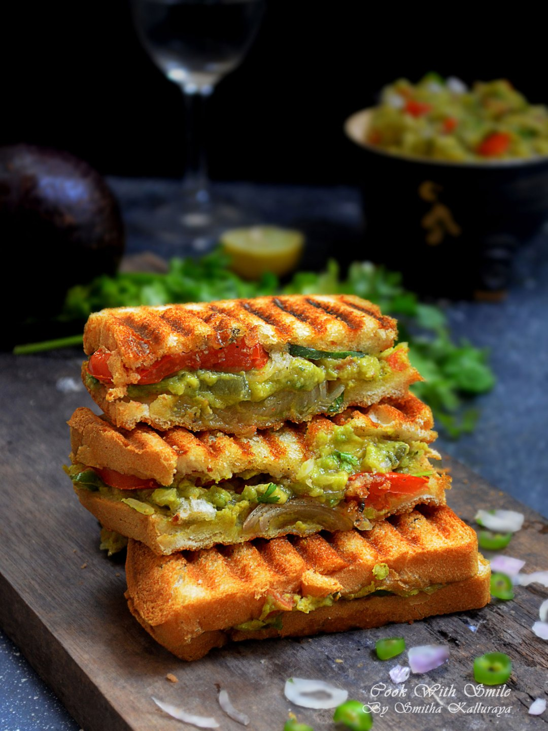 Indian vegetarian avocado sandwich recipe guacamole sandwich indian vegetarian avocado sandwich forumfinder Images